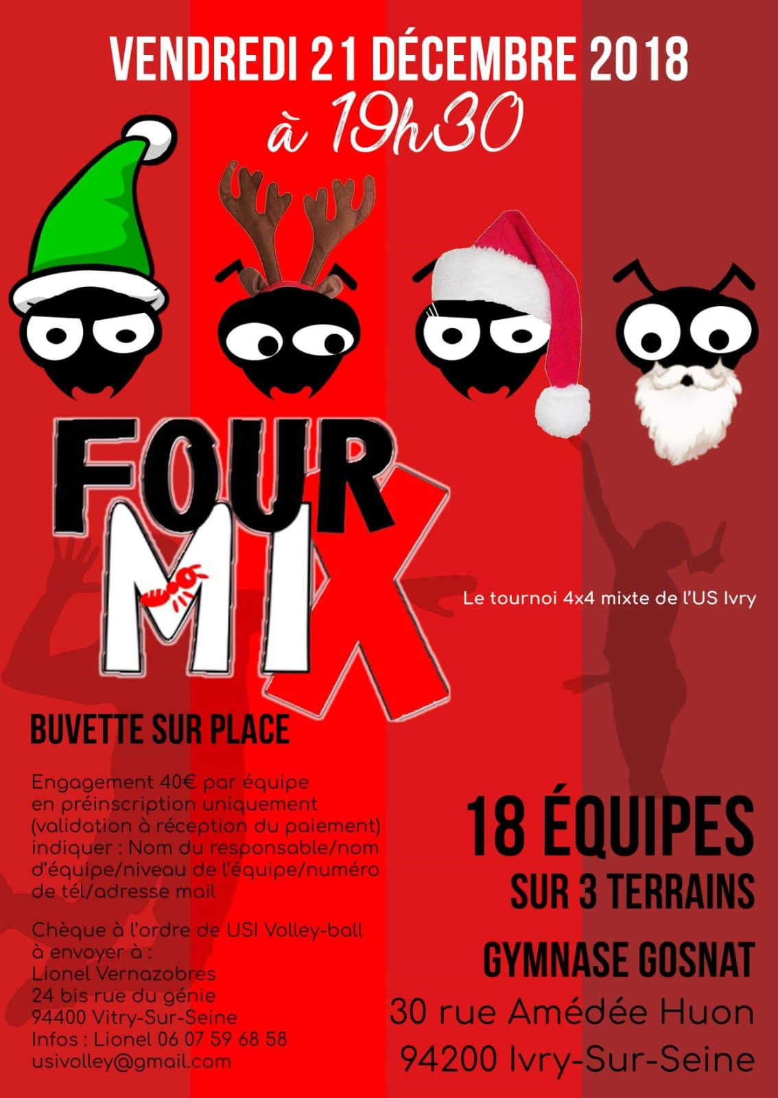 Résultat Tournoi Nocturne Fourmix 2018